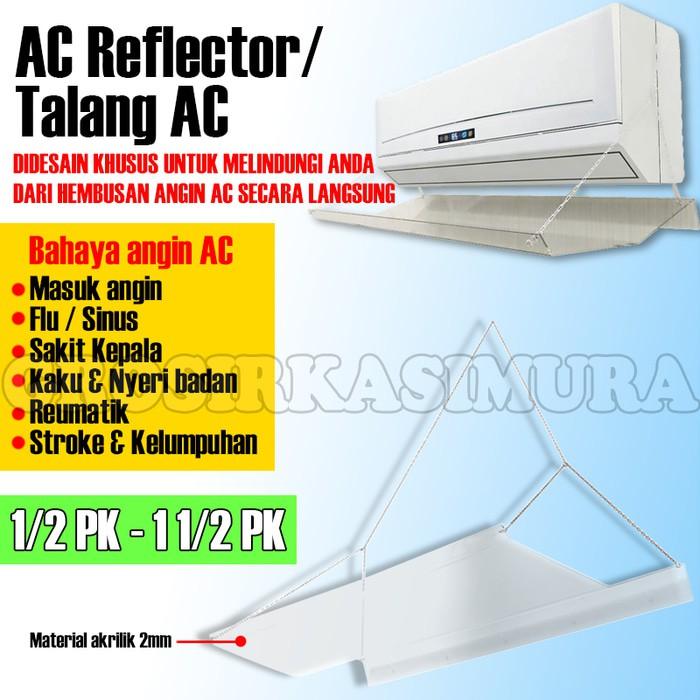 Talang AC Acrylic 80 cm 1/2 PK Reflector Penahan Hembusan Angin AC Akrilik | Shopee Indonesia