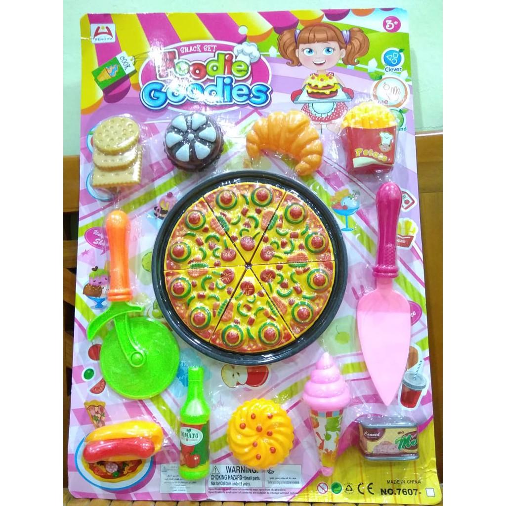Mainan Masak Memasak Pizza Set Shopee Indonesia