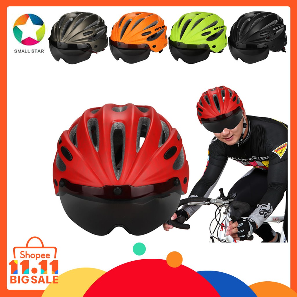Helm Gub Pro M1 Shopee Indonesia Sepeda Mtb Advand Dengan Lampu Led Bicycle Helmet