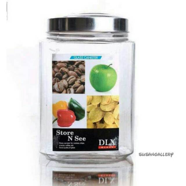 Glass Canister / Toples Besar DLX Cafe B Kotak 9 Liter | Shopee Indonesia