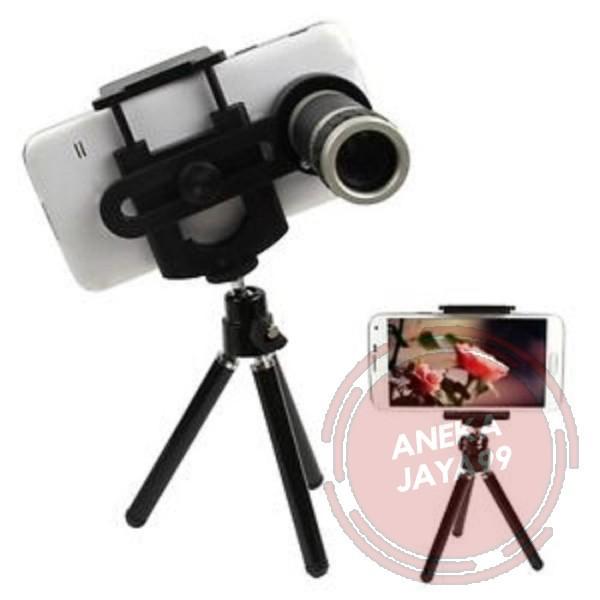 tripod hp mini panjang anti goyang teropong kamera 8x zoom