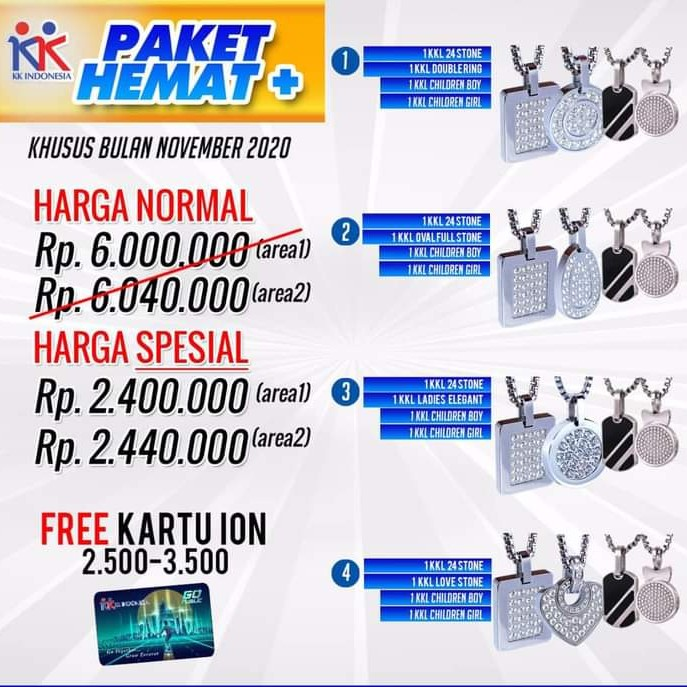 KK LIFORCE FAMILY PACK PROMO - 4 KK LIFORCE