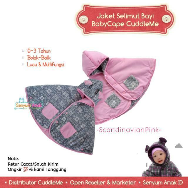 Baby Cape CuddleMe Stripe Pink Jaket Anak Bolak Balik Cuddle Me BabyCape | Shopee Indonesia