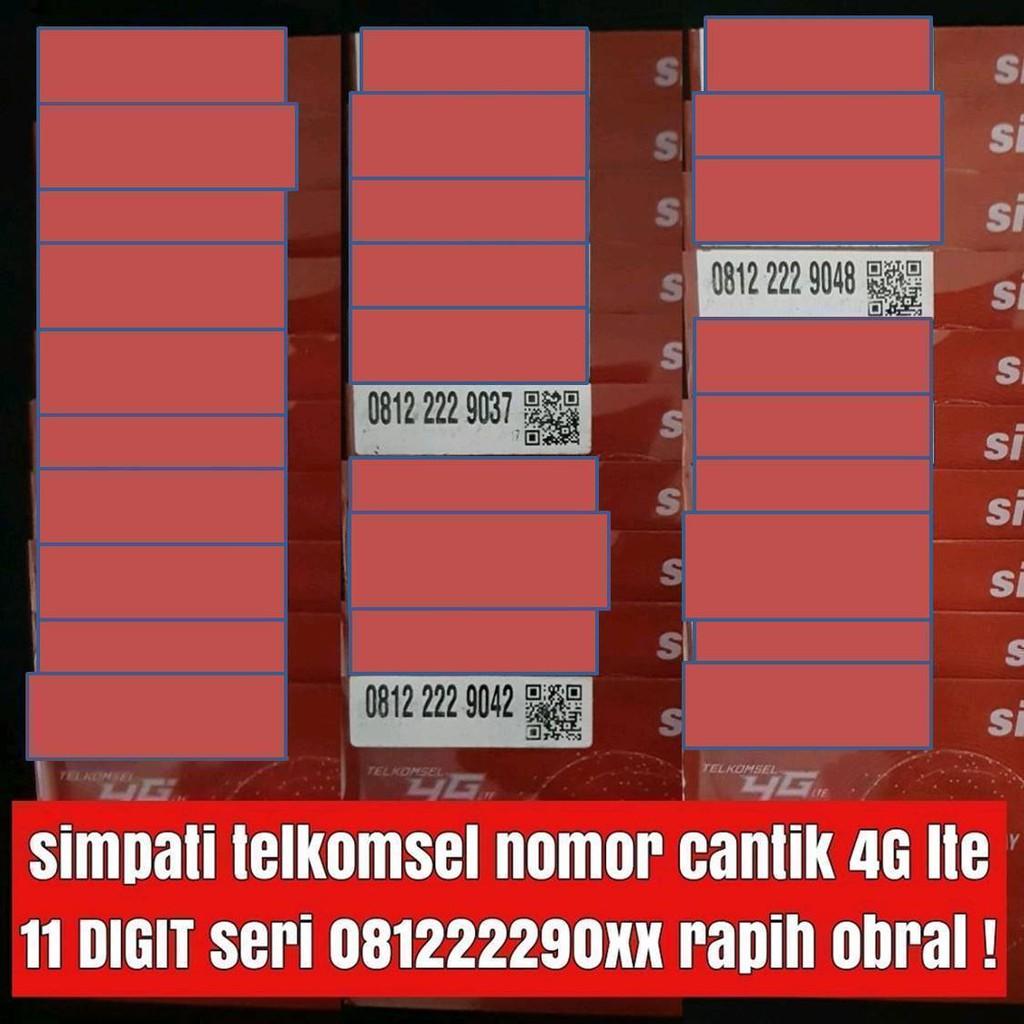 Nomor Cantik Simpati 0812 11000 Perdana Telkomsel 4G Ribuan   Shopee Indonesia