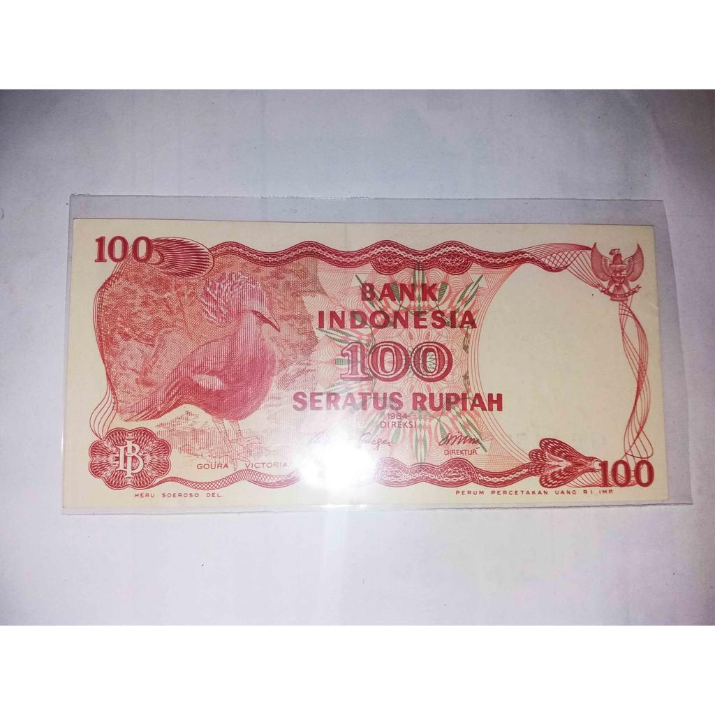 Kuno Uang Kertas Lama Rp 100 Burung Dara Mahkota Shopee Indonesia