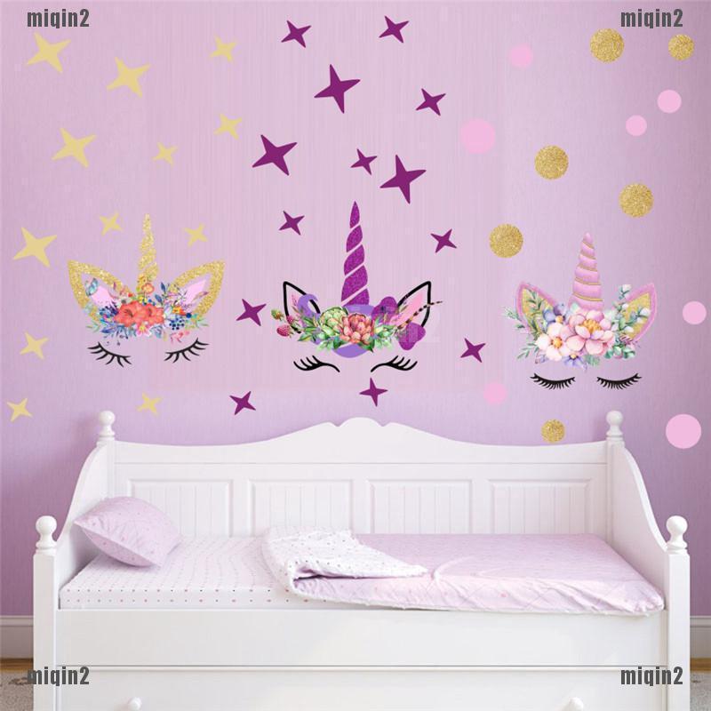 Stiker Dinding Diy Motif Unicorn Kreatif Untuk Kamar Tidur Anak Perempuan Shopee Indonesia