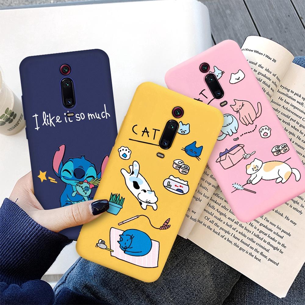 Soft Case Silikon Motif Kartun Stitch Lucu Untuk Xiaomi Redmi Note 5 6 7 8 Pro 6A 7A K20 Pro
