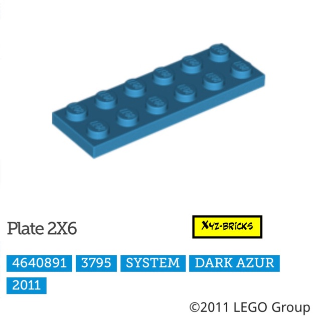 New LEGO Lot of 4 Light Bluish Gray 2x6 Building Plate Parts and Pieces