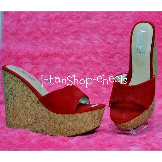 Wedges e-heels gliter sandal import eheels gold  30719374e9