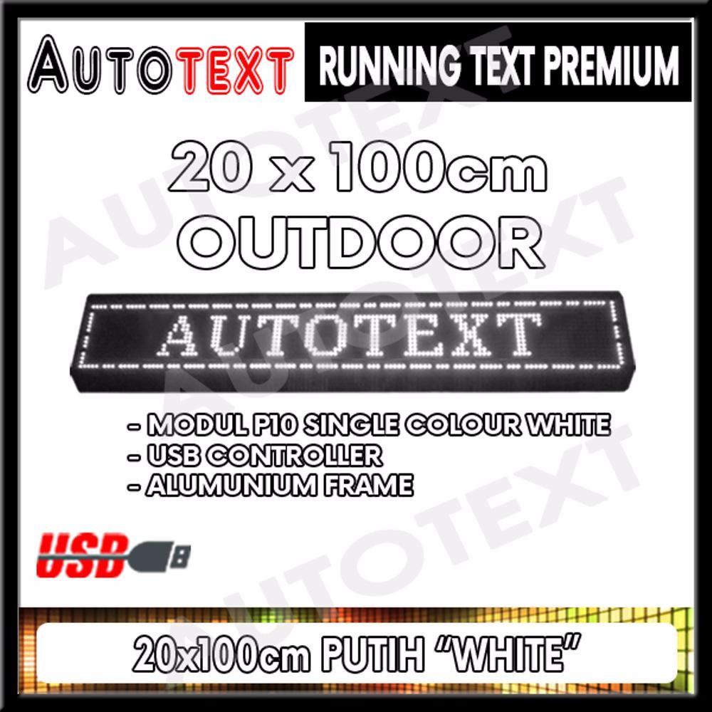 Running Text 20x100cm Wifi Outdoor Merah Dark Frame Daftar Harga Led Runningtext 100x20 Masjid Mesjid Red Color Indoor 16x96 Hijau Biru Putih Kuning P10 Shopee