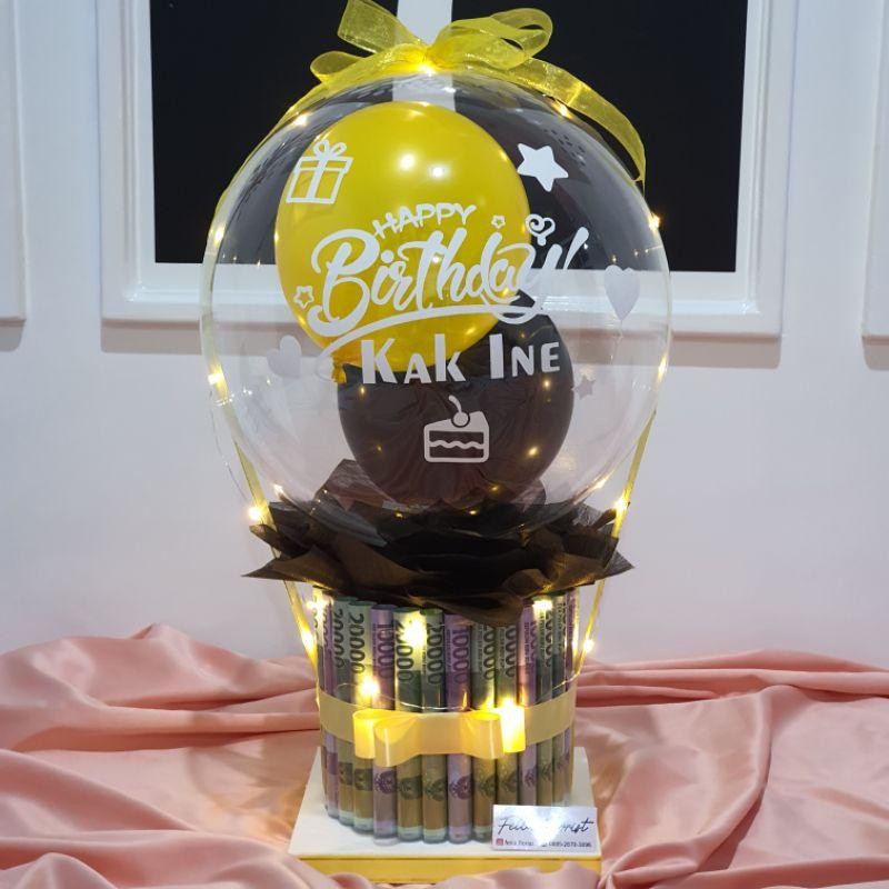Hadiah Ultah Kado Ulang Tahun Wisuda Graduation Birthday Anniversarry | Money Cake Kue Uang Balon