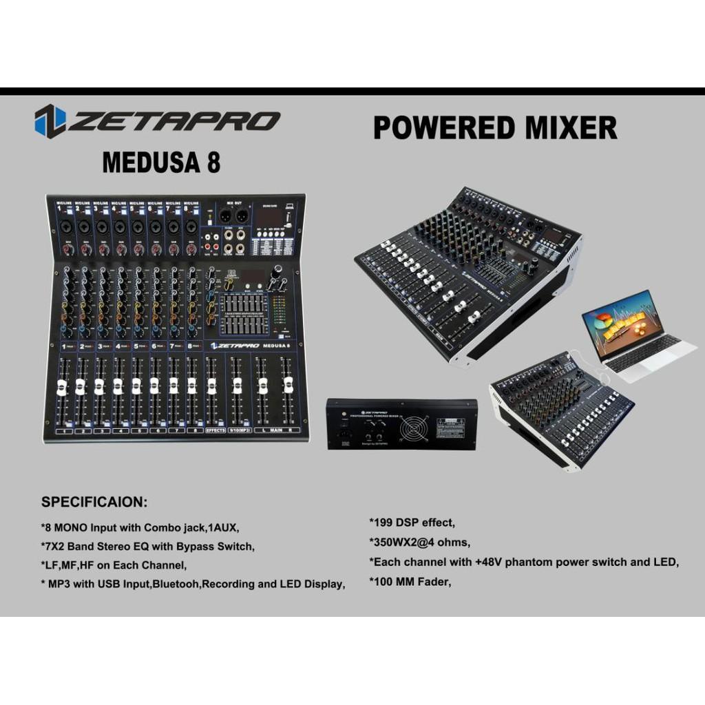 Power Mixer zeta pro 8 channel Zetapro Medusa 8