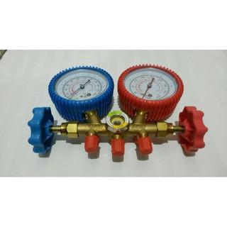 One Cool Brass Manifold Gauge Set Alat Isi Freon Ac Double Manifold | Shopee Indonesia