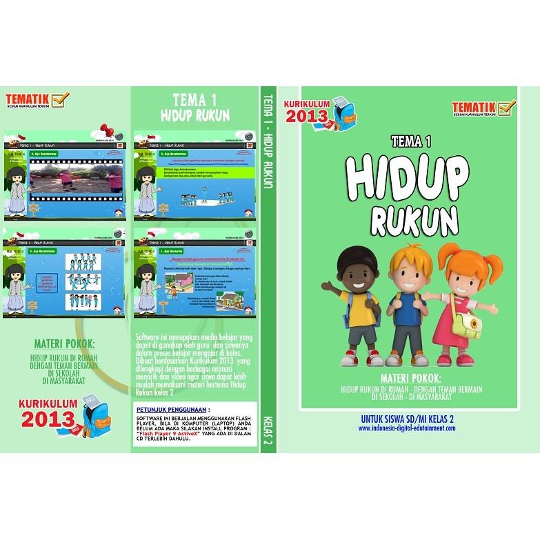 Cd Belajar Tematik Sd Kelas 2 Tema 1 Hidup Rukun Shopee Indonesia