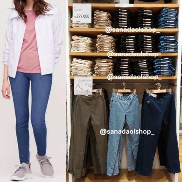 Sale Sampai 25 Juni Uniqlo Celana Jegging Ultra Stretch Tebal Premium No Zipper Shopee Indonesia
