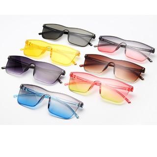 ✨Bayar di Tempat✨Western Siamese Square Candy Color Kacamata Hitam Wanita Pria  Sunglasses Women Men 6d7e8538f2