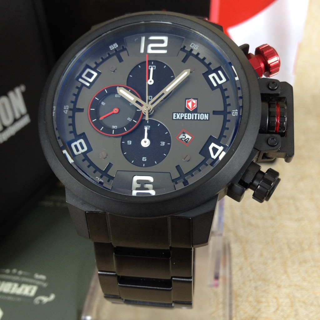 Expedition 6629 Mc Brown Garansi Resmi Update Harga Terkini Dan Swiss E6335mc Airborne Tali Karet Hitam Dial Chronograph Li8052 E6694 Black Original Shopee Indonesia