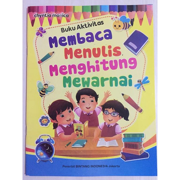 Buku Membaca Menulis Menghitung Mewarnai A4 Full Color Untuk Paud