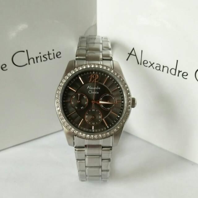 Alexandre christie 8439 silver black wanita original  e380693915