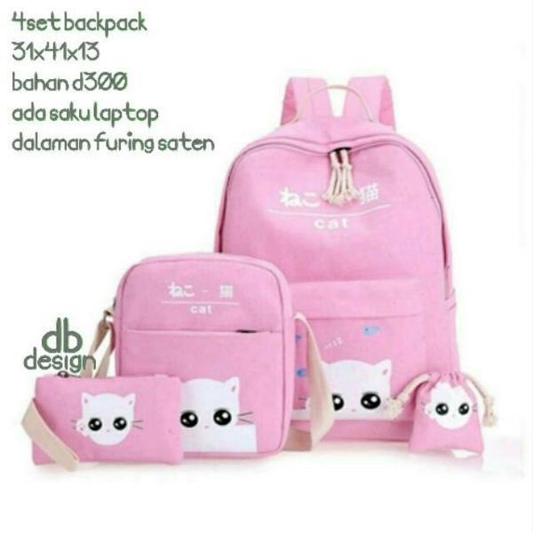 Tas hello kitty tas sekolah anak perempuan cewek gemblok ransel backpack  punggung SD SMP girl bag OK  d0114cfc05