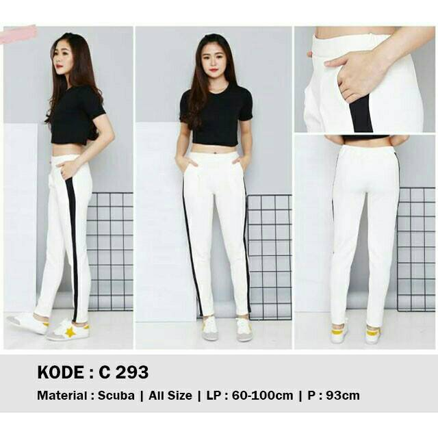Zara Pants White Zara Legging Celana List Hitam Leging Baret Pusat Grosir Solo Murah Shopee Indonesia