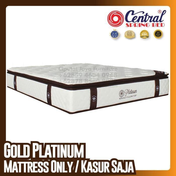 [Furniture] Central New Gold Platinum - SpringBed - Ukuran 160 x 200 cm