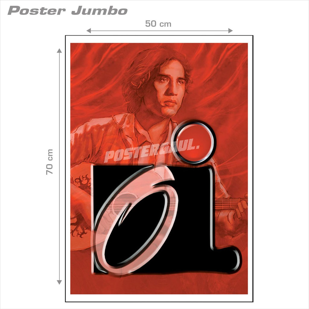 Cod Poster Jumbo Iwan Fals If08 Ukuran 50 X 70 Cm Shopee