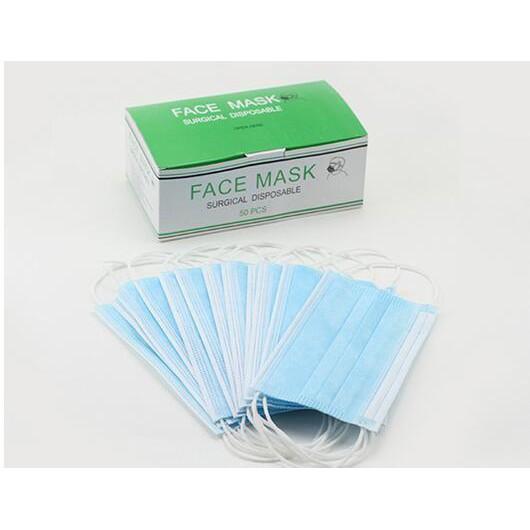 Masker Mask Face Hospital Motor Murah Debu Dokter Disposable Kerja Suster 50pcs Surgical 3ply