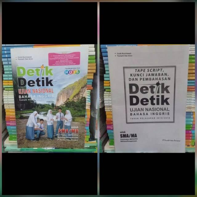 Buku Detik Detik Un Bahasa Inggris Sma 2018 2019 Shopee Indonesia