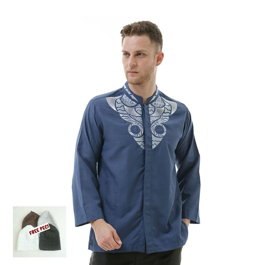 SHOHIB Baju Koko Biru Muda Raihan .