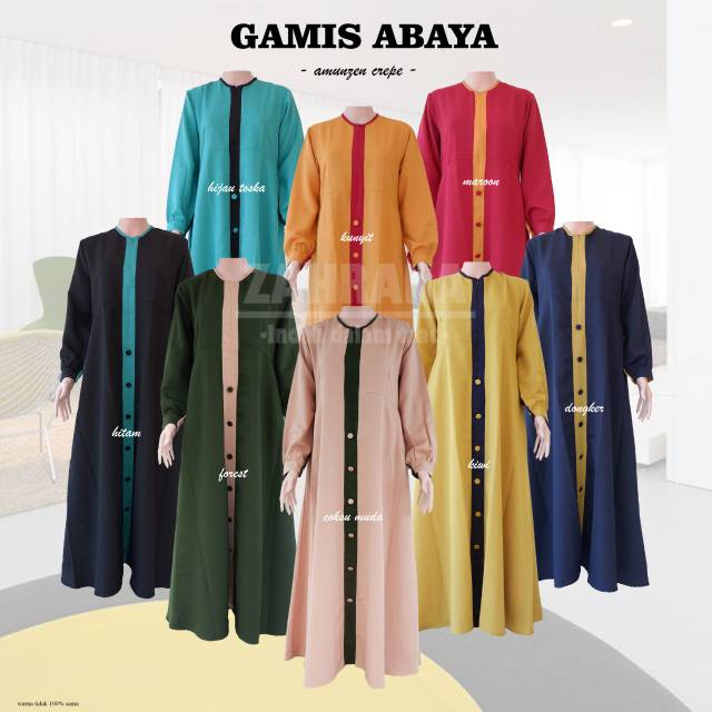 Gamis Abaya By Zahrana Shopee Indonesia