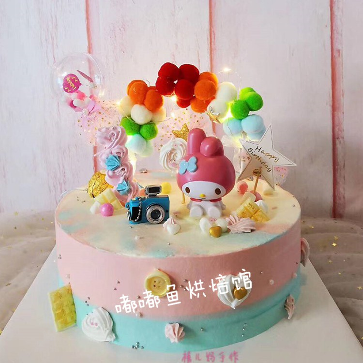 Boneka Hello Kittymy Melodyzodiakkt Warna Pink Untuk Dekorasi Kue Ulang Tahun