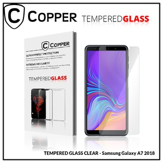Samsung A7 2018 - COPPER Tempered Glass Full Clear