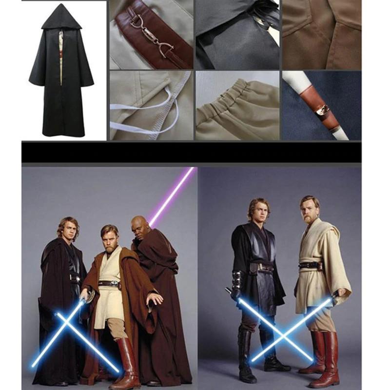 Jedi Anakin Skywalker Darth Vader Adult Costume Cloak Robe Cosplay Wars Star