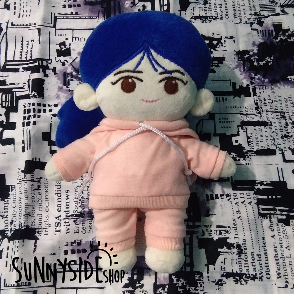 [Plush Doll] 20cm Blue Ji Eun (IU) Doll | Kpop Doll - Anime Doll - Custom Doll | Exo Doll - BTS Doll