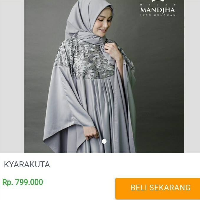 Kyarakuta Dress Mandjha Ivan Gunawan Shopee Indonesia