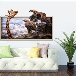 ... Stiker Dinding dengan Bahan Vinyl Mudah Dilepas Gambar Jerapah Dan Burung Hantu untuk Dekorasi Rumah. suka: 12