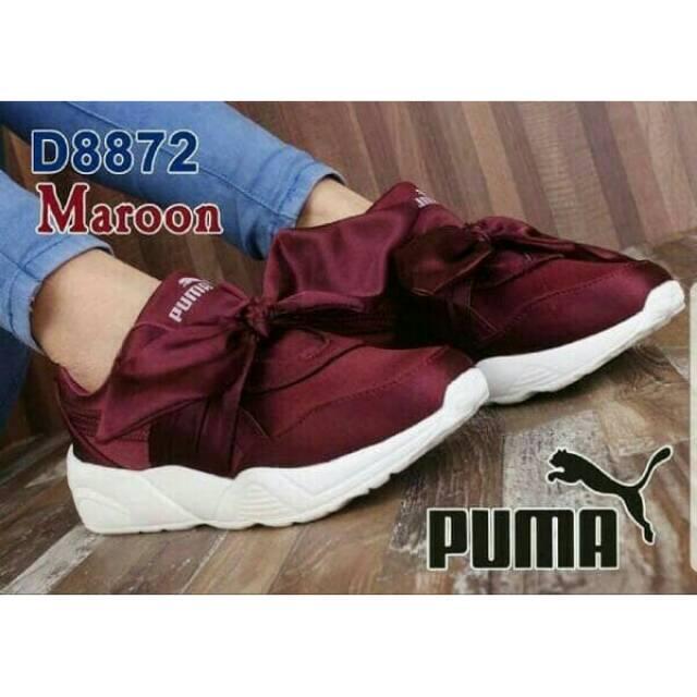 Sepatu Puma Bow Pita Soft Pink Rihanna Rihana X By Creeper Fenty ... 6e6660a0a2