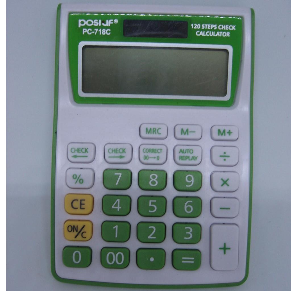 Calculator Positif Pc 718 Alat Bantu Hitung Kalkulator 12 Digit