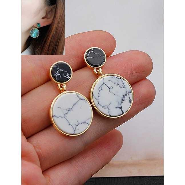 SA383 LRC Anting Tusuk Fashion Color Circular Ring Shape Decorated Earings | Shopee Indonesia