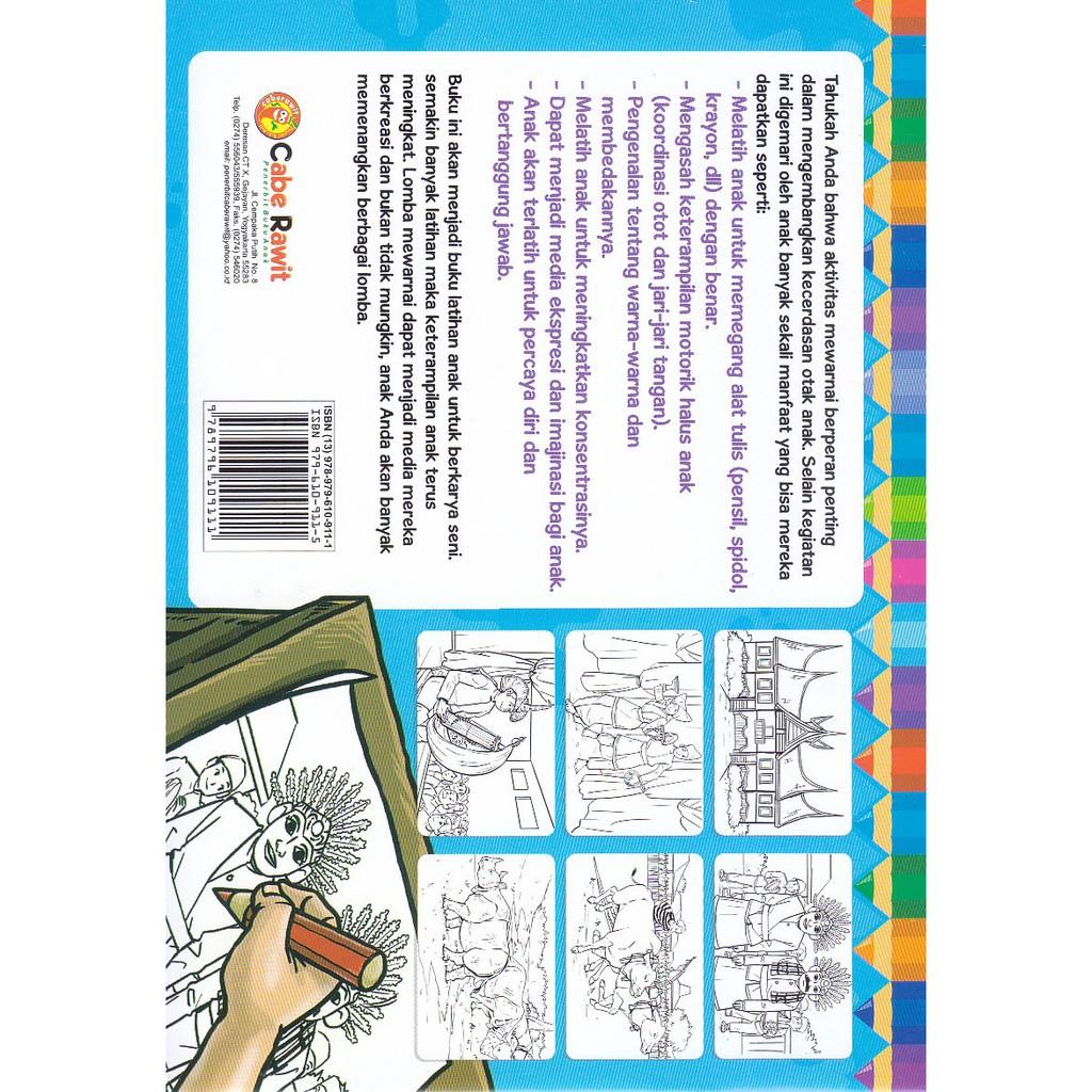 Buku Anak Juara Lomba Mewarnai Budaya Nusantara