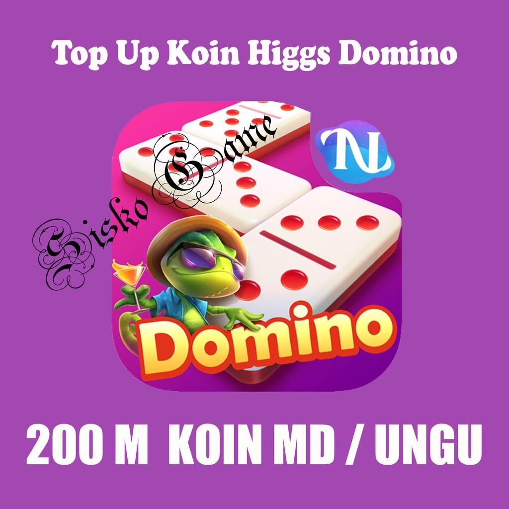 Top Up Koin Higgs Domino 200M MD Ungu - Chip Higgs Domino 200M MD Ungu