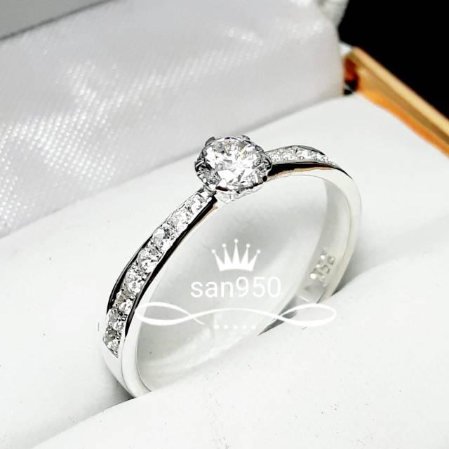 Cincin Tunangan Berlian Emas Putih Diamond Shopee Indonesia
