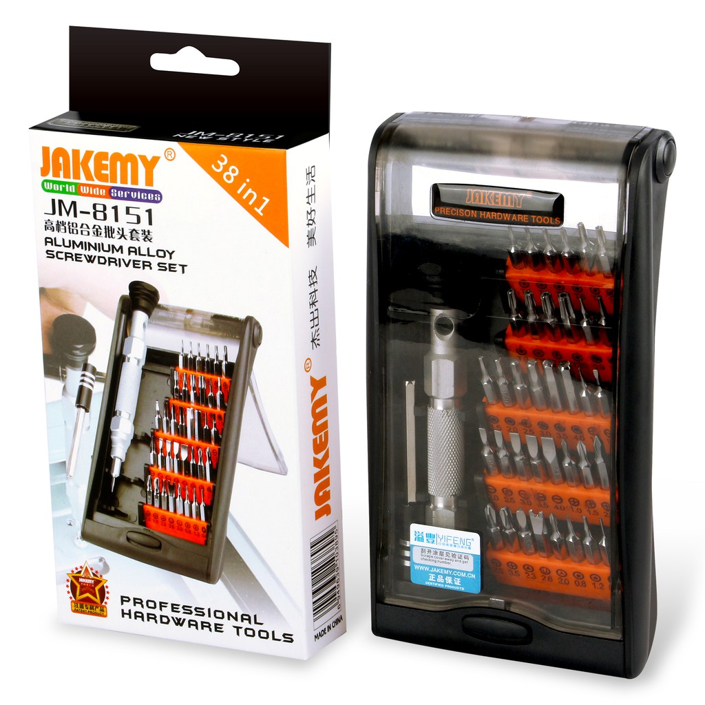 Obeng Tool Set Merek Jakemy Jm 8151 Original Shopee Indonesia 8101 33 In 1 Precision Screwdriver Repair Kit