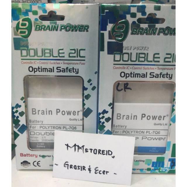Battery batre baterai polytron R1500 Q five PL-7Q6 Brain power / baterai handphone polytron