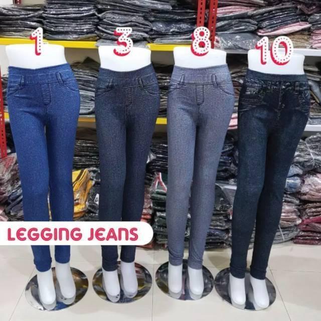 Legging Jeans Motif Legging Levis Motif Jumbo Shopee Indonesia