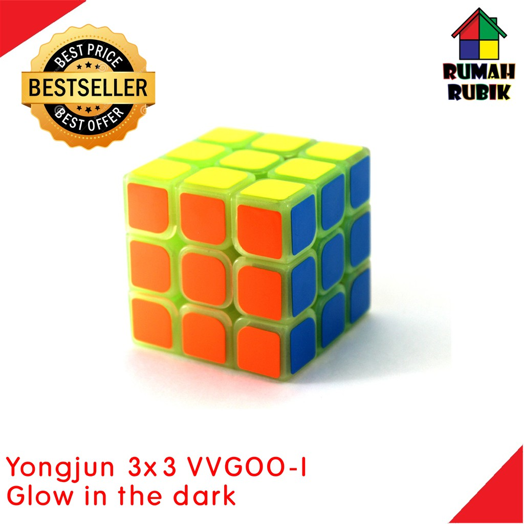 Rubik 3x3 SPEED Edition Glow In The Dark + PELUMAS Round Edge Yong Jun | Shopee Indonesia