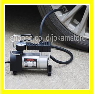 Pompa Ban Mini Tekanan 100PSI -Heavy Duty Air Compressor 12V DC mobil motor sepeda elektrik otomatis