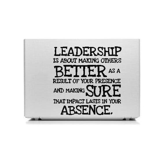 stiker laptop quotes leadership garskin motivasi kerja cutting