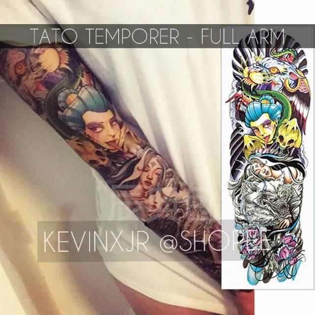 2b682df17 TATO FULLARM FULL ARM TEMPORER TERBARU 3D 2019 NEW MOTIF TEMPORARY TATTOO  PREMIUM MURAH   Shopee Indonesia